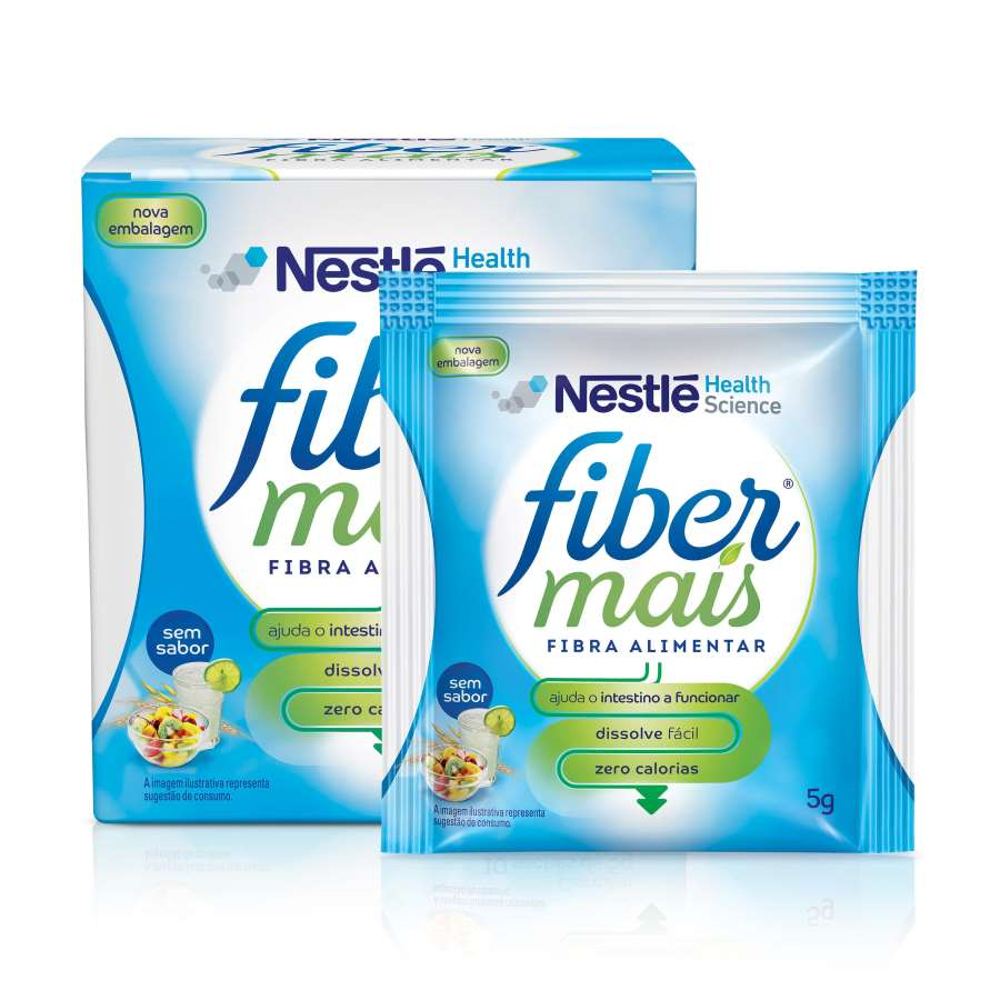 FIBERMAIS® Sem Sabor - Display sachet and box