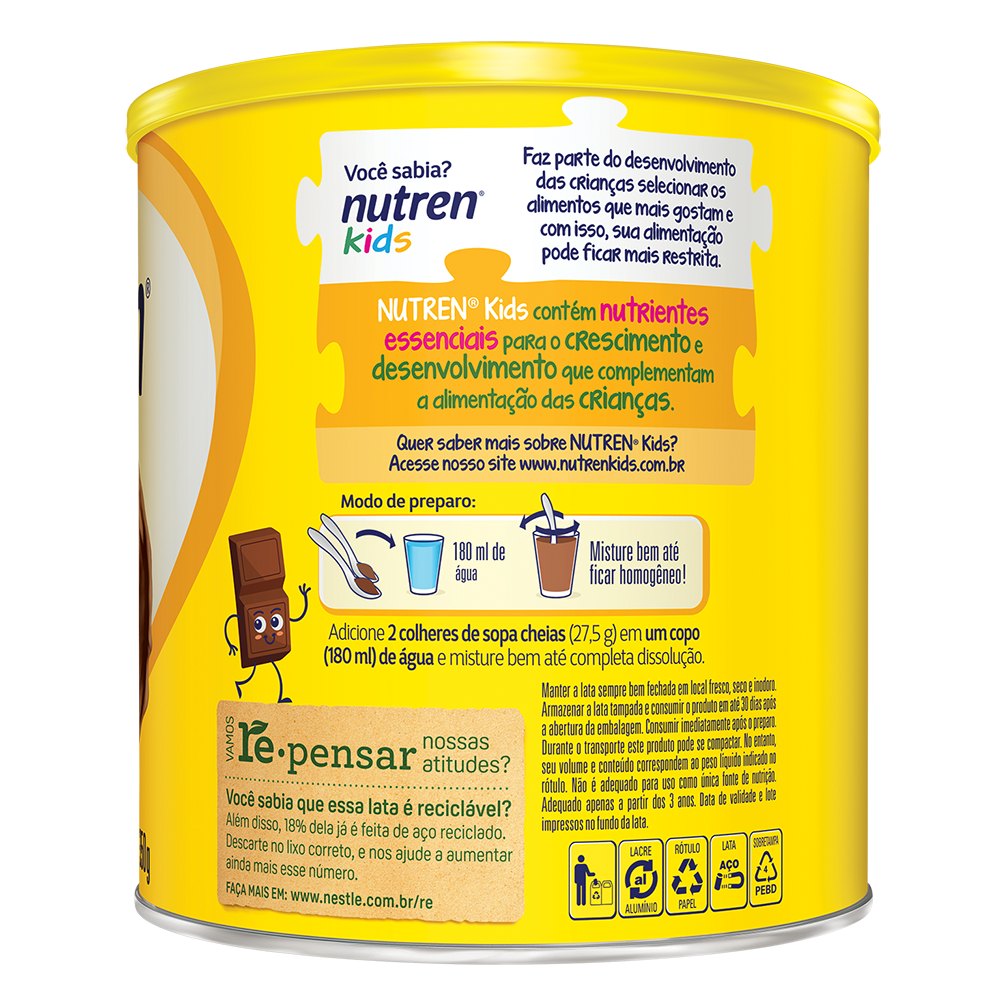nutren kids 350g chocolate bkA BX