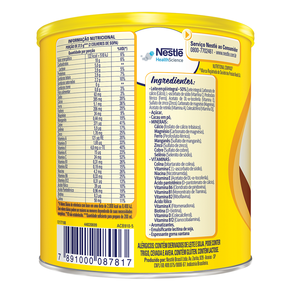 nutren kids 350g chocolate bkB BX